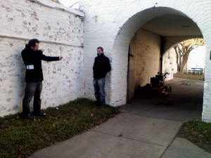 "Not what was meant by ""shooting a picture"" in Virginia... Screenwriters Grayson Wolfe and Will Dresden scouting locations."